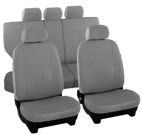 GRAU Autositzbezüge VGP1 BMW E36 Maßgefertigte Velours Sitzbezüge
